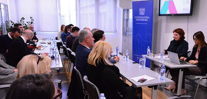 Presentazione di CONNEXT nella Camera di commercio del Montenegro