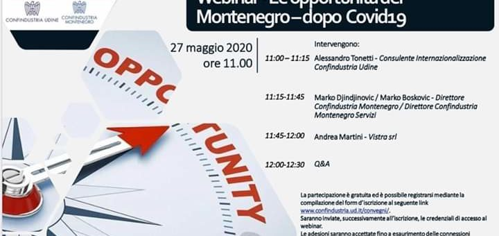 Webinar – Le opportunità del Montenegro dopo Covid19
