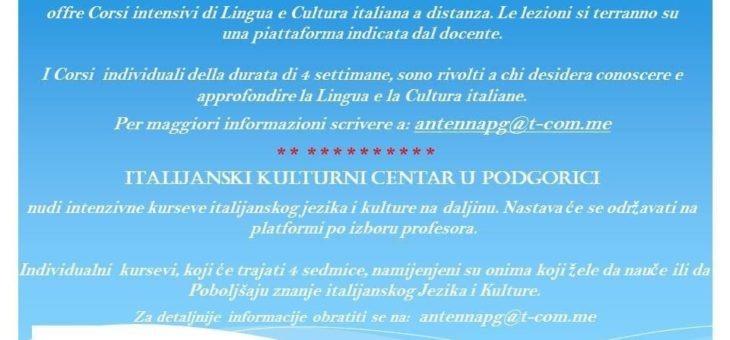 Il Centro italiano di cultura di Podgorica